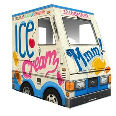 Cardboard Ice Cream Truck..so cute