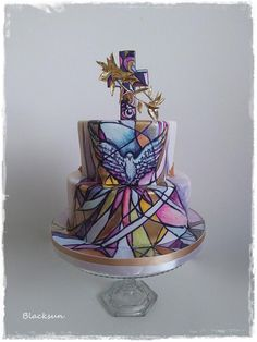 Stained glass cake by Blacksun