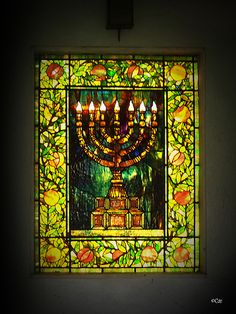 menorah stained glass