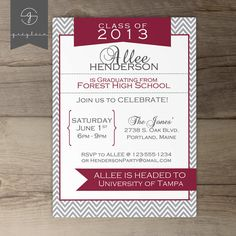 Printable Graduation Invitation Announcement // Party by greylein