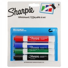 Sharpie whiteboard markers - pack of 4
