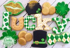 """189 Likes, 4 Comments - Anna Parnell (@cookieoccasions_) on Instagram: """"Happy St. Patricks Day! ☘#cookieoccasions #sugarcookies #decoratedcookies #customcookies…"""""""