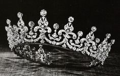Queen Mary's 'Girls of Great Britain and Ireland' Tiara ~ Given to Queen Mary in 1893 as a wedding gift for her marriage to the future King George V.
