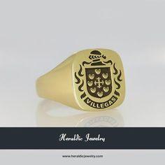 Villegas family crest jewelry