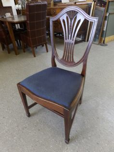 Set Of Eight Dining Room Chairs (Inc. Two Carvers) IN The Recycled Goods Factory Showroom ------ Slight Damage On 1 Carver, Overall Good Condition Was £120 Now £96 (PC699)