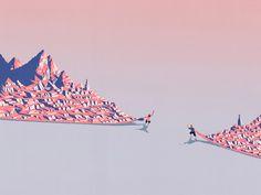 Doctors Without Borders / Illustri: One Million Steps on Behance