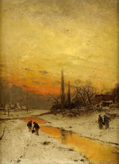 Winter Day Ludwig Lanckow - Date unknown