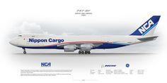 Boeing 747-8F Nippon Cargo Airlines JA16KZ | www.aviaposter.com | Civil aircraft art print | #scetch #art #airliners #aviation #aviaposter #jetliner