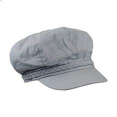 Gray Lightweight Ivy Newsboy Cabbie Hat w/ Braided Trim, Irish Fiddler Cap. Read more description on the website.