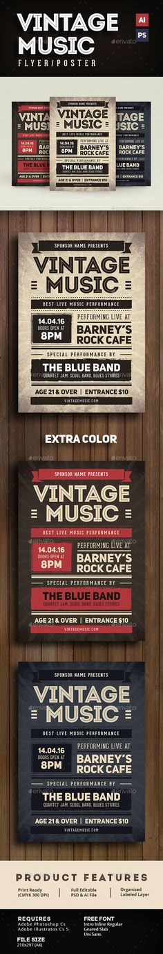 90u0027s Music Flyer by Guuver on @creativemarket Creative Project - music flyer