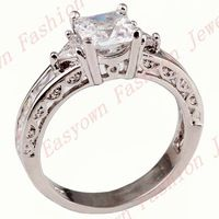 Size 7/8/9/10 White Sapphire 10KT Gold Filled Rings Women Lady's Fashion Jewelry Free Shipping F2849-53