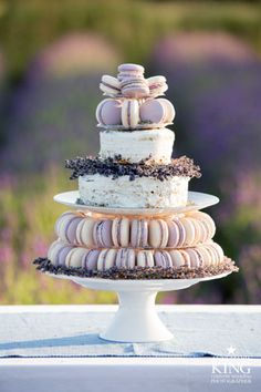 Arrangement of goodies for a lavender party, and lovely Bokeh photography....