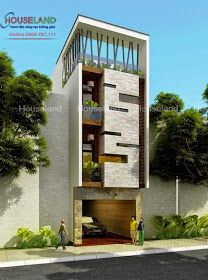 Mẫu thiết kế nhà phố hiện đại mặt tiền 5m