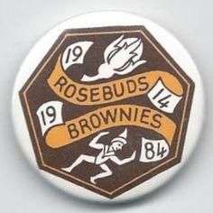 Girl Guide badges - Rosebuds/Brownies 70th Anniversary pin badge