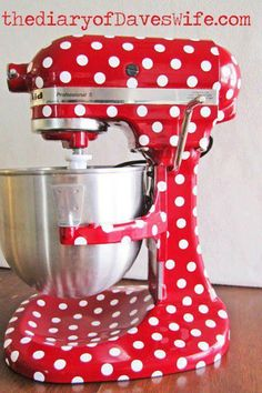 Retro Red and White Polka Dot Mixer:: Vintage Home:: Retro Kitchen and Appliances:: pin up girl style!