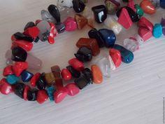 Купить МИКС натуральных камней. нить 80 см - комбинированный, камни, нить камней, для украшений
