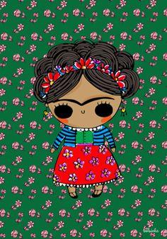 Poster Bolsinha Frida do Studio Adonadabolsinha por R$90,00