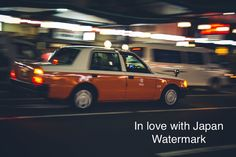 Japanese Taxi (Cab) at night HD - High Resolution Print, Nature Print, Wall Art, Art Photography, Nature Photography, Tokyo Print