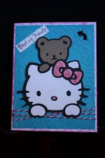 Best Of Friends   Used Hello Kitty Greetings Cricut Cartridge