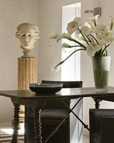 Carved bust, tabletop decor /design Peter Vitale
