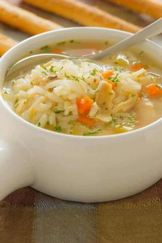 Grannys Cold Curing Easy Chicken and Rice Soup Recipe