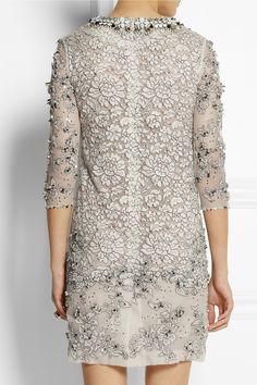 Biyan Lisbeth embellished lace dress NET-A-PORTER.COM