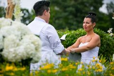 Ceremony in the Perennial Border at Toronto Botanical Garden #Garden #Wedding
