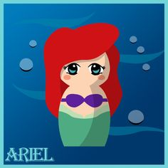 Ariel [as a mermaid - as a doll] (As Dolls by Hallatt @deviantART) #TheLittleMermaid