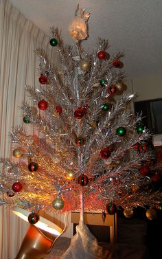 Aluminum Christmas Trees!  Aluminum trees were first manufactured in 1958 by the Aluminum Specialty Company.