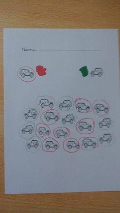Reconhecimento de direita-esquerda: assinalar os jipes virados para a direita a vermelho e os para a esquerda a verde