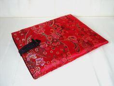 SALE Red Satin Ipad / tablet cover / holder with by SewKura