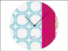 Karlsson Muurbloem Tiles Clock Blue