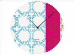 Karlsson Muurbloem Tiles Clock Blue