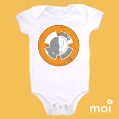 Organic Cotton: Mock Star Wars BB-8 Droid Baby Bodysuit  by MoiLLC