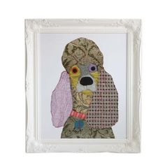 "Carola Van Dyke - Lola the Poodle Print - 20x24"""