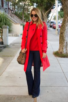trench coat and flare