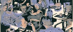 Low  Down Café lino & 2 silkscreen colours by Graham Firth