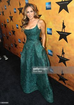 Sarah Jessica Parker attends 'Hamilton' Broadway opening night at Richard Rodgers Theatre on August 6, 2015 in New York City.