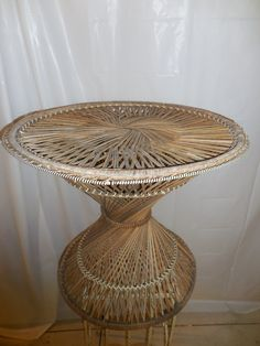 A Rattan Table Nice for Use With Princess Chairs by Serenities on Etsy
