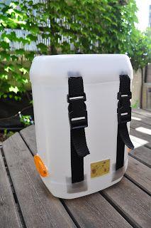 DIY: alforjas de tachos/ saddlebags Bike Craft, Bicycle Panniers, Diy Plastic Bottle, Bike Bag, Bushcraft, Diy Home Crafts, Camping, Backpacking, Bicycling