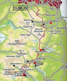 Wicklow Way route  Dublin - Ierland http://www.pietsmulders.nl/ierland_wicklowway.html