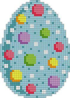 Three Needlepoint Easter Eggs Set 1 - Instructions for Easter Eggs. Or cross stitch. Needlepoint Stitches, Counted Cross Stitch Patterns, Cross Stitch Charts, Cross Stitch Designs, Cross Stitch Embroidery, Embroidery Thread, Needlework, Easter Egg Pattern, Easter Cross
