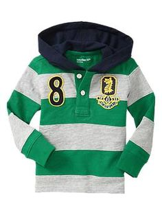 Embroidered rugby pullover | Gap