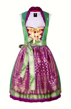 Anina W Dirndl Brocade and silk (what a beautiful spring dress!)