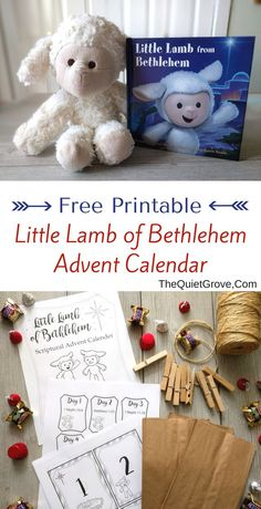 Need Ideas for making Christmas more Christ Centered? Then check out this Free Printable Little Lamb of Bethlehem Advent Calendar Christmas And New Year, All Things Christmas, Christmas Eve, Christmas Ideas, Family Christmas, Christmas Recipes, Christmas Cookies, Holiday Ideas, Christmas Decor