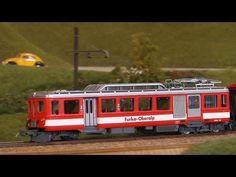 Die größte Modelleisenbahn der Schweiz in Spur 0 mit Führerstandsmitfahrt - YouTube
