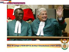 Chief Justices Pius Langa and Arthur Chaskalson.  Source of Image: