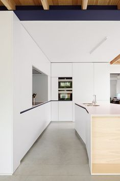 location: Herentals(BE) completion: 2016 client: private program: renovation of a row house architecture and interior: i. Home Kitchens, Townhouse, Minimalism, Kitchen Design, Interior Design, Home Decor, House Architecture, Seaside, Photographs