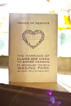 Wedding Order Of Service Lace Wedding Invitations, Wedding Programs, Wedding Stationery, Invites, Wedding Ceremony, Reception, Wasing Park, Wedding Order Of Service, Order Of The Day