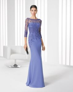 Cheap 2018 Mermaid Mother's Dress For Ladies Womens Sleeves Appliques Bateau Mother of Bride Dresses Wedding Party Formal Evening Gowns Mob Dresses, Tea Length Dresses, Trendy Dresses, Cheap Dresses, Summer Dresses, Fashion Dresses, Evening Dresses Online, Formal Evening Dresses, Evening Gowns